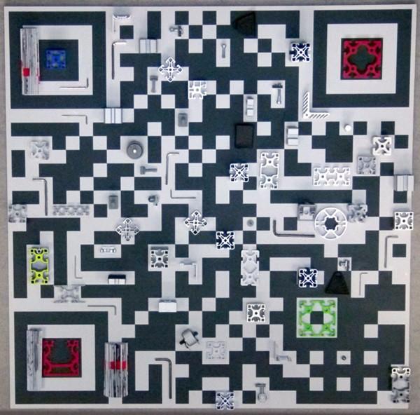 Anna Higgs-QR Code 3 (2014) Assemblage-100x100cm-V1-websm