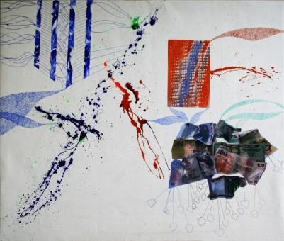Anna Higgs, Weltwirtschaft (2012), Acryl on Canvas