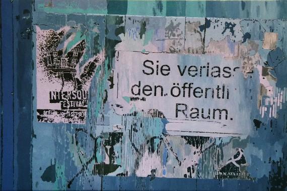 Anna Higgs, Botschaften, 2013, Acryl on Canvas